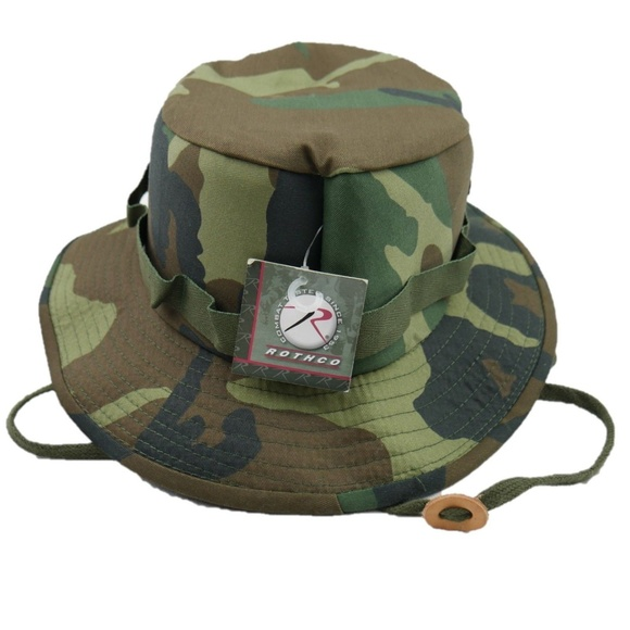 e22deeec74499 Rothco Xl Woodland Camouflage Military Boonie Hat